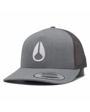 casquette Nixon iconed trucker heather gray gris