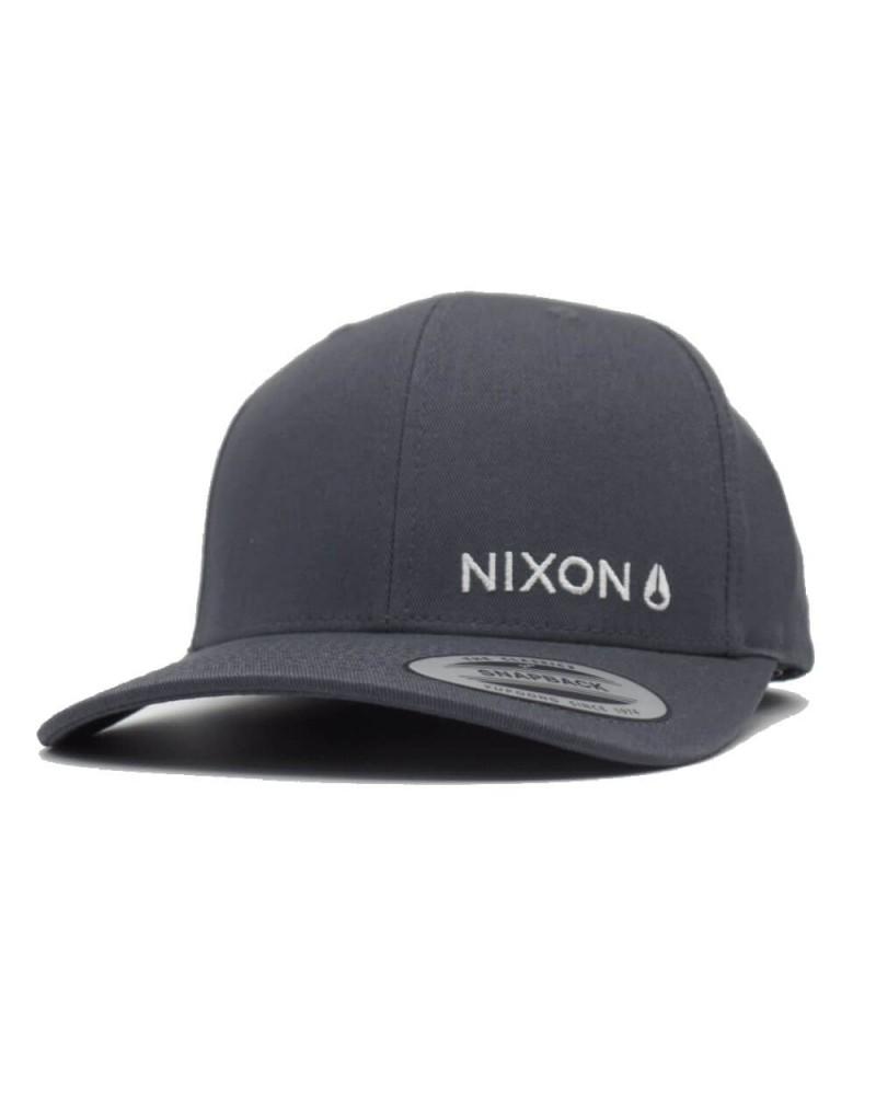casquette nixon lockup snapback charcoal gris