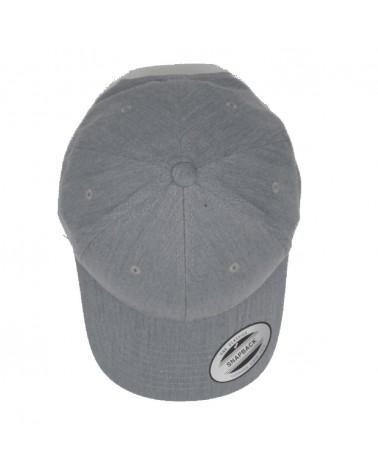 casquette nixon lockup snapback heathergray gris