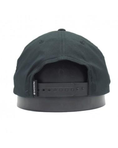 Casquette Nixon scout 110 flexfit snapback  blackonblack Noir
