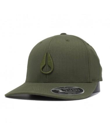 Casquette Nixon scout snapback avocado flexfit  kaki vert