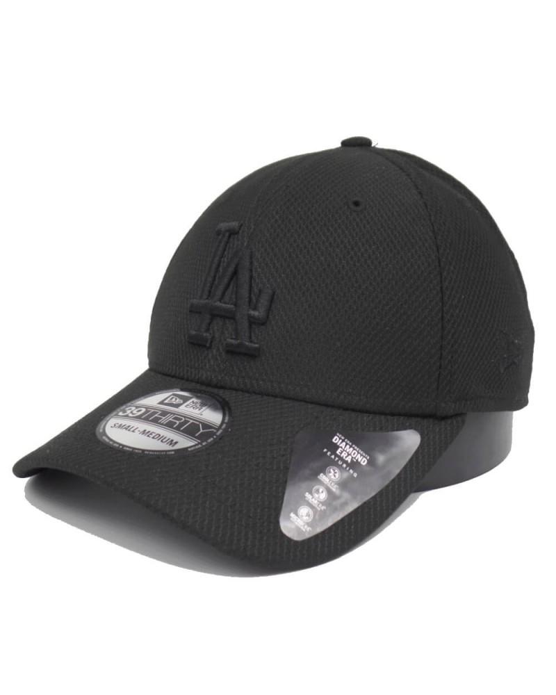 Casquette LA Los angeles Dodgers 39Thirty New Era noir black on black